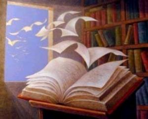 Fogli che volano da un libro